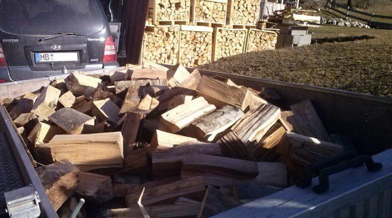 Transport von Brennholz