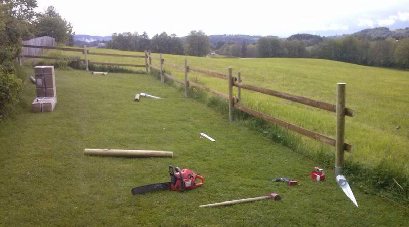 Zaun mit Bindestangen Fichte